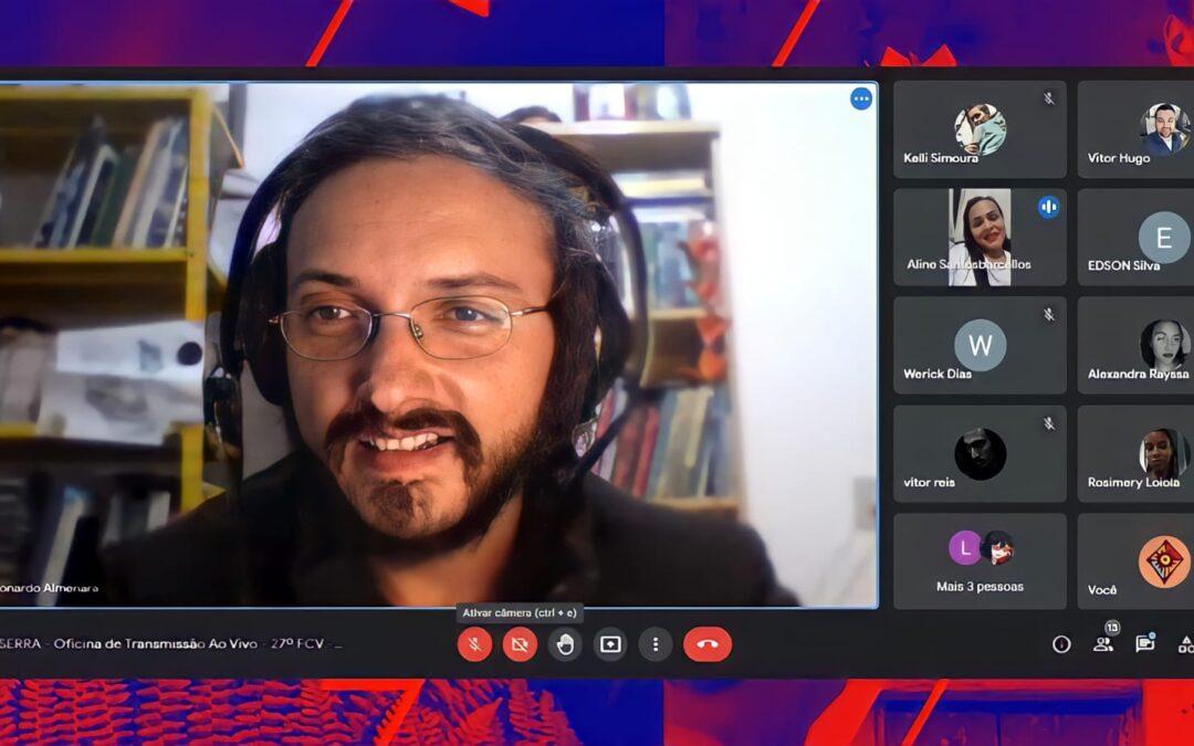 Oficina de Transmissão Ao Vivo apresenta novos formatos de diálogo on-line